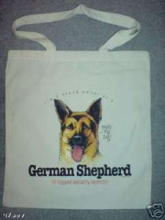 German Shepherd Funny Humorous Dog Design Tote Bag