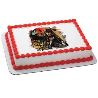 Disney Pirates of the Caribbean Pirates Life Edible Icing Cake Topper