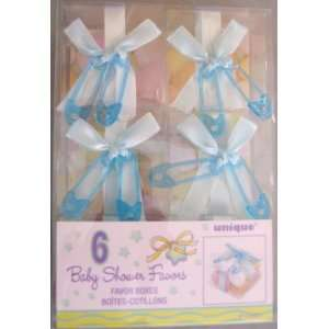 Baby Shower Favor Boxes Blue 6ct.
