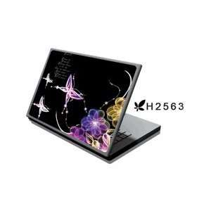 15.4 Laptop Notebook Skins Cover H2563 Electric Flowers