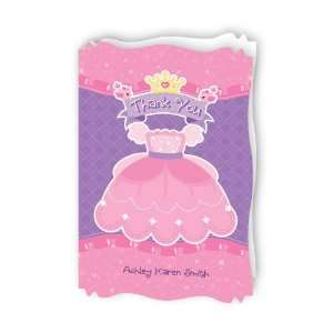 Pretty Princess Thank You   Personalized Baby Thank You Cards