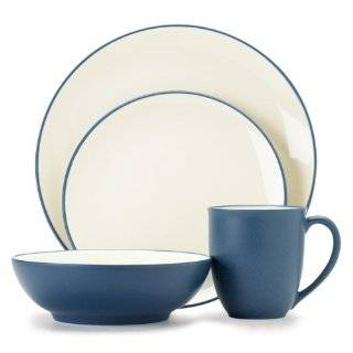Noritake Java Blue Swirl 4 Piece Place Setting  Kitchen