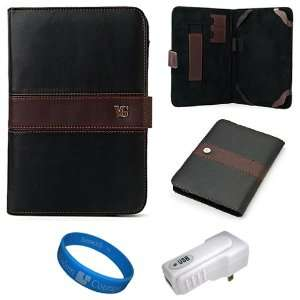 Dauphine Edition Black Brown Executive Leather Folio Case