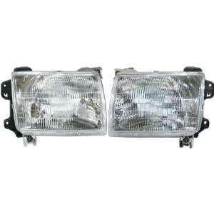 Pickup Truck 00 01 Xterra Headlights Headlamps Pair Set Automotive