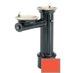 heavy duty cast aluminum pedestal drinking fountain with powder coated