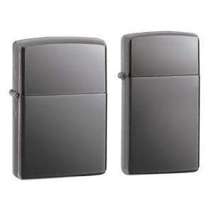 Lighter Set   Slim Black Ice and Regular Black Ice Chrome, Pack of Two