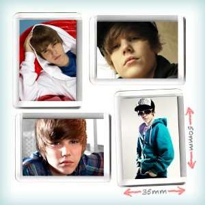 Justin Bieber Fridge Magnet Set of 4 (35mm x 50mm)