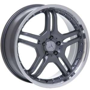 20 INCH MERCEDES BENZ WHEELS RIMS GUNMETAL WITH CHROME LIP Automotive