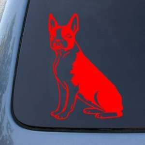 BOSTON   Dog   Vinyl Car Decal Sticker #1495  Vinyl Color