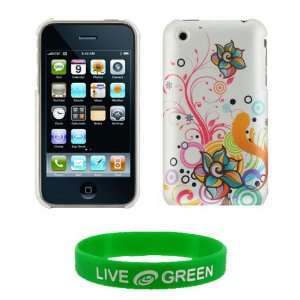 Autumn Flower Design Rubberized Shell Case and Screen