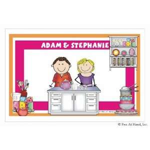 Hand Stick Figure Personalized Placemats   (Kitchen)
