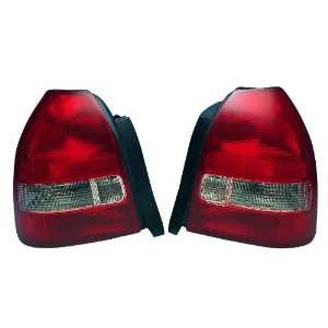 96 00 Honda Civic 3dr HB JDM Red / Clear Euro Tail Lights