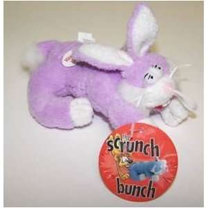 Scrunch Bunch Plush Rabbit 5in Dog Toy Assorted Colors