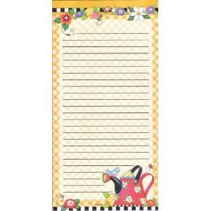 Magnetic Refrigerator Grocery List to Do Note Pad Springtime with Red