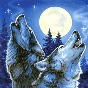 WOLF MOON Wolves Wildlife GIANT 5.5 Inch art decor REFRIDGERATOR