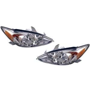 Toyota Camry (LE, XLE) Replacement Headlight Assembly (Chrome)   1