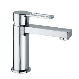 Single Handle Lavatory Faucet with Metal Lever Handle and 4 Spout
