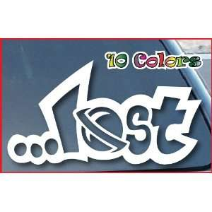 Lost Surfing Car Window Vinyl Decal Sticker 8 Wide (Color