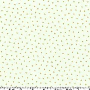 44 Wide Love Song Mini Hearts Cream Fabric By The Yard