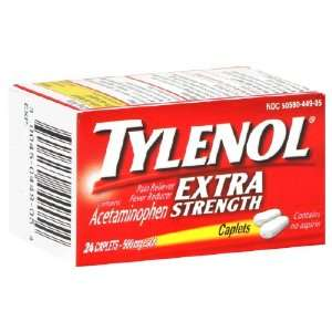 Tylenol Extra Strength Pain Reliever, 24 Caplets