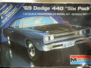 Monogram 1969 Dodge 440 Six Pack Metal Glow Blue 1/24 Kit