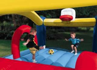 New Huge Inflatable Sports Theme Bounce House Bouncer & Slide Little