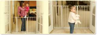 Regalo Easy Open Super Wide Walk Thru Gate   White Baby
