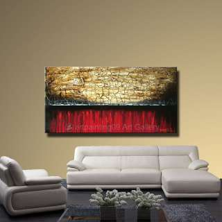 Contemporary Original Abstract Landscape Art Deco Oil Painting CX860