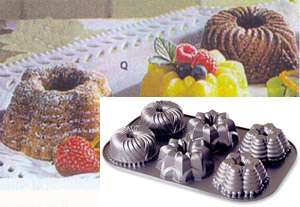 Mini Bundt cake pan 3 shapes Bavarian Star Festival 011172544025
