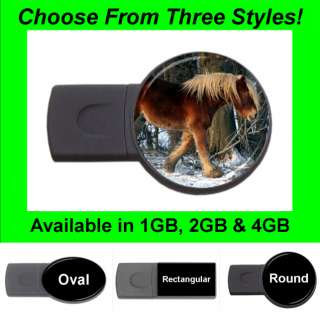Horse Design #34   USB Flash Memory Drive (Stick/Thumb/Pen)   FD1394
