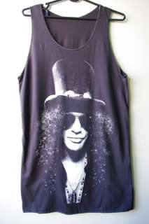 SLASH top Hat Guns N Roses Axl Rose Heavy Metal Rock Tank Top S