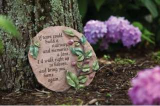 If Tears Build Stairway Garden Memorial Stepping Stone 033171259045