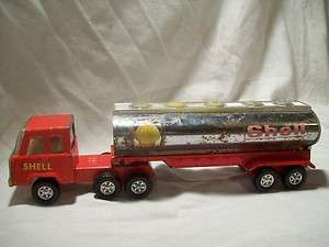 Old Vintage Shell Semi truck Cab trailer Pressed steel