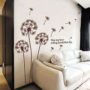 elegant style Large Butterfly Vine Flower Wall Stickers / Wall Decals