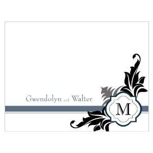 Lavish Monogram Note Card   Berry