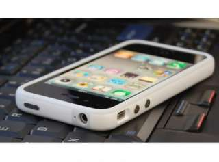 NEW White TPU Rubber Plastic Bumper Case Cover with Metal Buttons